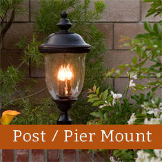 Shop our selection of outdoor post mount and pier mount lights from Maxim Lighting