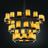 Justice Design Group CNDL-8713 Dark Bronze with Amber Shades
