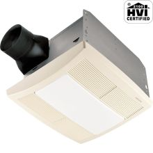 110 CFM 1.5 Sone Ceiling Mounted HVI Certified Bath Fan with Light and Night Light from the QT Collection