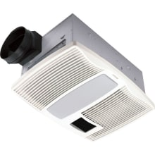 110 CFM 0.9 Sone Ceiling Mounted HVI Certified Bath Fan with Light and Night Light from the QT Collection