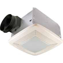 110 CFM 0.7 Sone Ceiling Mounted Energy Star Rated and HVI Certified Bath Fan with Light and Night Light from the QT Collection