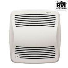 110 CFM 0.7 Sone Ceiling Mounted Energy Star Rated and HVI Certified Bath Fan with Humidity Sensor from the QT Collection