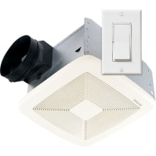 110 CFM 0.7 Sone Ceiling Mounted Energy Star Rated and HVI Certified Utility Fan with Wall Control from the QT Collection