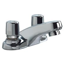 Double Handle Metering Bathroom Faucet from the Teck Metering Collection