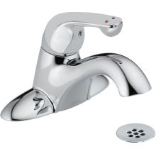 Commercial Single Handle Centerset Bathroom Faucet with Metal Lever handle and Drain Assembly