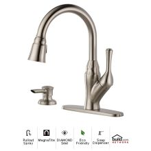 Velino Pullout Spray Kitchen Faucet with MagnaTite Docking, Diamond Seal and Touch Clean Technologies - Includes Soap Dispenser