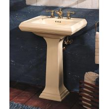 Memoirs pedestal lavatory with single-hole faucet drilling