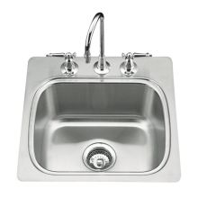 Single Basin Stainless Steel Bar Sink from the Verse Series