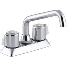 Coralais laundry sink faucet with plain end spout and blade handles