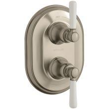 Bancroft Double Porcelain Lever Handle Thermostatic Trim