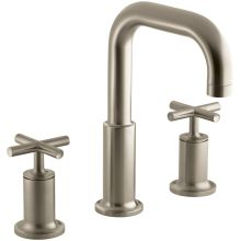Double Handle Roman Tub Trim with Metal Cross Handles from the Purist Series
