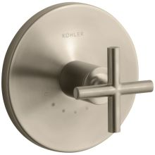 Purist Single Metal Cross Handle Thermostatic Valve Trim