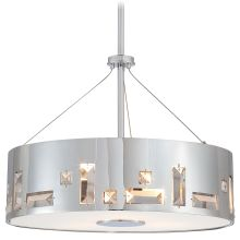 4 Light Drum Pendant In Chrome from the Bling Bang Collection