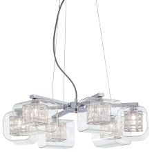 6 Light 1 Tier Chandelier from the Jewel Box Collection