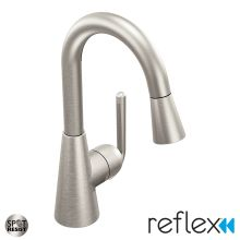 High-Arc Pullout Spray Bar Faucet with Reflex Technology from the Ascent Collection