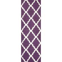 nuLOOM Rugs Purple Hand Hooked Marrakech Trellis