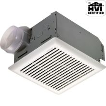110 CFM 4 Sone Ceiling Mounted HVI Certified Bath Fan with Integrated Backdraft Damper
