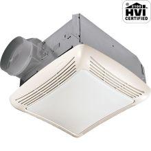 70 CFM 3 Sone Ceiling Mounted HVI Certified Bath Fan with Incandescent Lighting