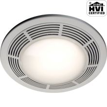 100 CFM 3.5 Sone Ceiling Mounted HVI Certified Bath Fan with Light