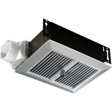 80 CFM 2.5 Sone Ceiling or Wall Mounted HVI Certified Utility Fan with Anodized Aluminum Grille