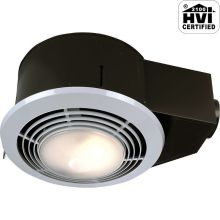 110 CFM 3 Sone Ceiling Mounted HVI Certified Bath Fan with Light and Night Light from the QT Collection