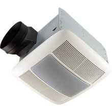 110 CFM 0.7 Sone Ceiling Mounted Energy Star Rated HVI Certified Bath Fan with Light and Night Light from the QT Collection