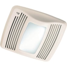 110 CFM 0.9 Sone Ceiling Mounted HVI Certified Bath Fan with Humidity Sensor, Light and Night Light from the QT Collection
