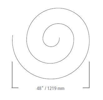 LBL Lighting Monorail Spiral 48 Inch Kit