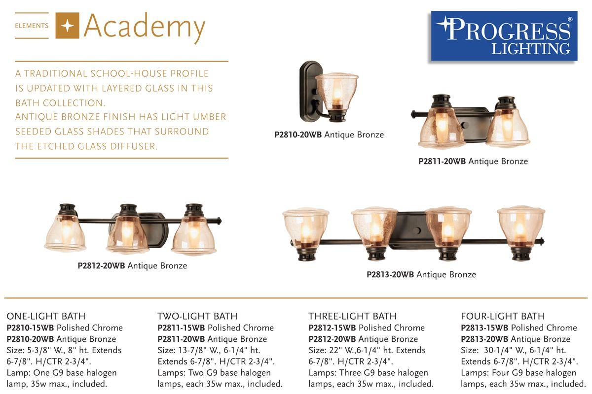 Progress Lighting Alexa Collection 2 Light Antique Bronze: Progress Lighting P2811-20WB Antique Bronze Academy