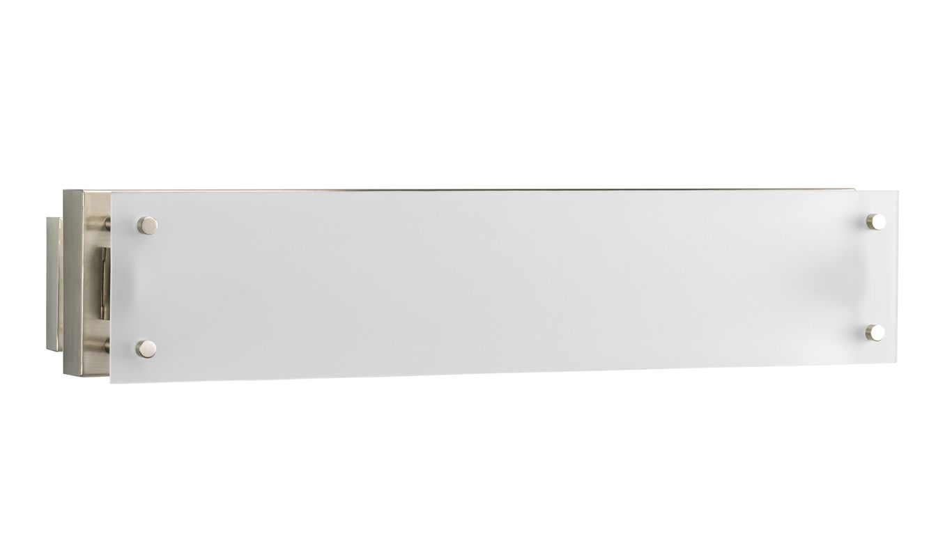 Bathroom Vanity Light Diffuser : Progress Lighting P7211-09EB Brushed Nickel Fluorescent Bathroom Light - Build.com