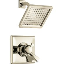 Dryden Monitor 17 Series Dual Function Pressure Balanced Shower Trim Package with Touch Clean Shower Head and Integrated Volume Control - Less Rough-In Valve