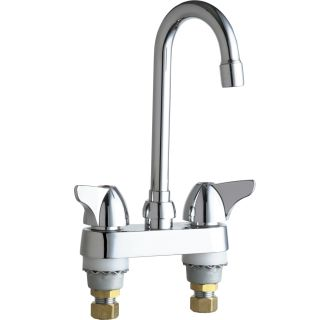 Chicago faucets 1895 abcp chrome commercial grade high for Eco friendly faucets