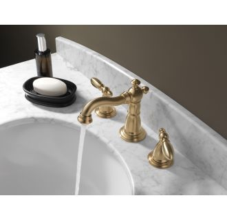 Delta-3555LF-216-Running Faucet in Champagne Bronze