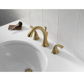 Delta-3592LF-Installed Faucet in Champagne Bronze