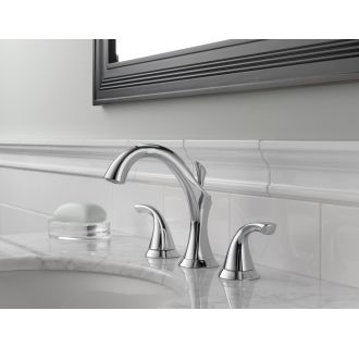 Delta-3592LF-Installed Faucet in Chrome