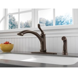 Delta-4453-DST-Installed Faucet with Escutcheon Plate in Venetian Bronze