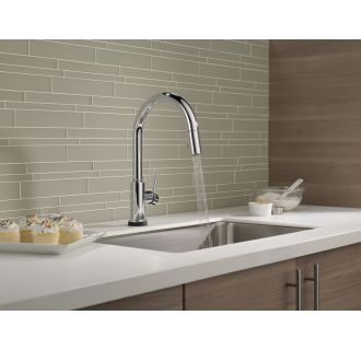 Delta-9159T-DST-Running Faucet in Spray Mode in Chrome