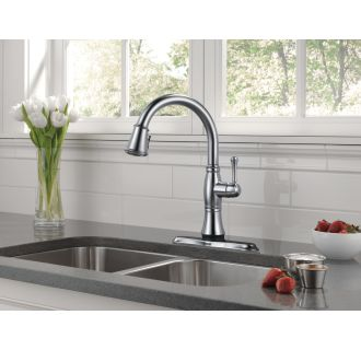 Delta-9197T-DST-Installed Faucet in Arctic Stainless