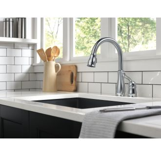 Delta-978-DST-Installed Faucet in Arctic Stainless