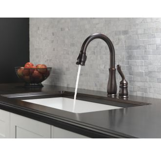 Delta-978-DST-Running Faucet in Stream Mode in Venetian Bronze