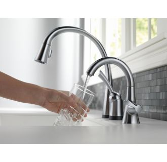 Delta-980T-DST-Faucet in Use in Arctic Stainless