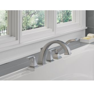 Delta-T4751-Installed Tub Filler in Brilliance Stainless