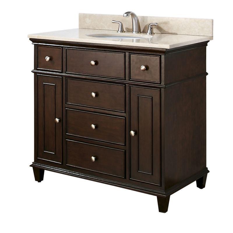 avanity windsor v36 wa walnut windsor 36 wood free standing vanity cabinet only. Black Bedroom Furniture Sets. Home Design Ideas