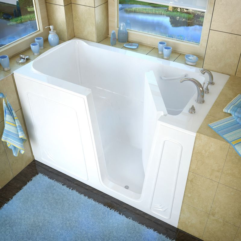 Avano av3260rws white walk in tubs 60 acrylic soaking for Walk in tub water capacity