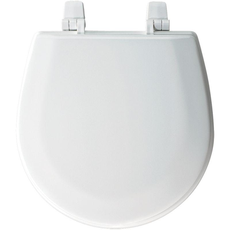 Bemis TC50TTA 000 White Marine Bowl Molded Wood Toilet Seat With Top Tite Hi