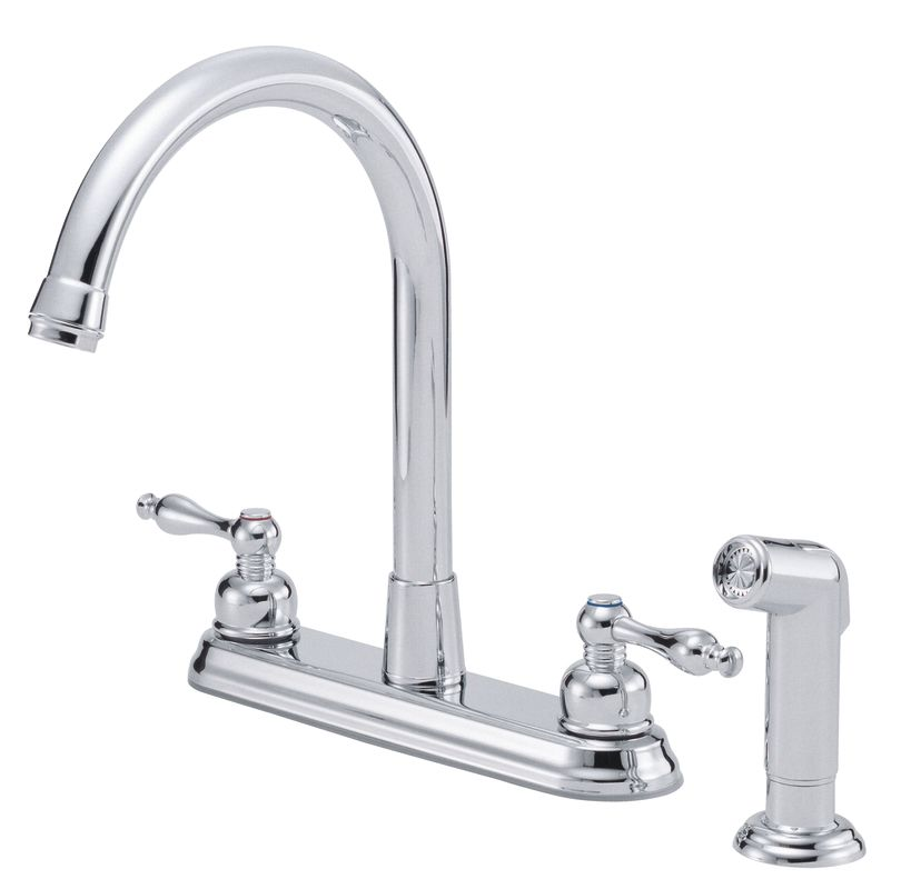danze d422255 chrome kitchen faucet includes side spray