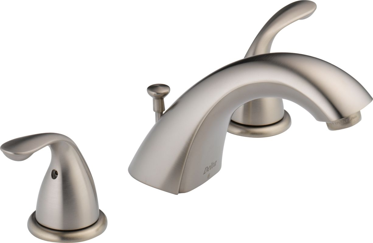 Delta 3530lf Ssmpu Brilliance Stainless Classic Widespread Bathroom Faucet With Pop Up Drain