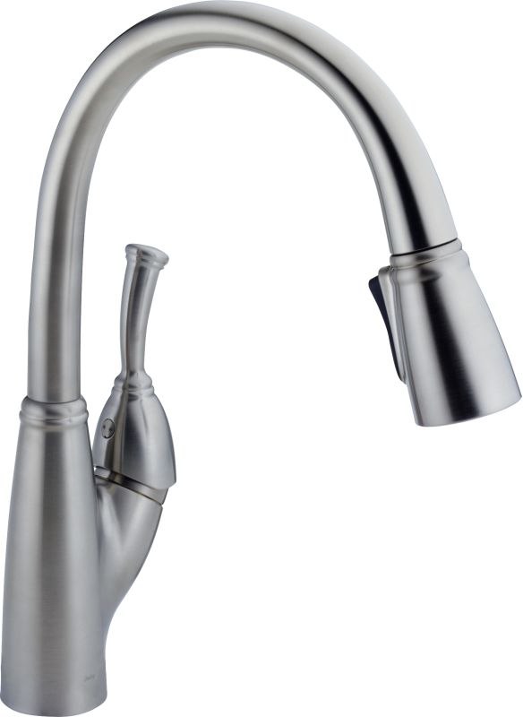 Delta 989 Ar Dst Arctic Stainless Allora Pull Down Kitchen