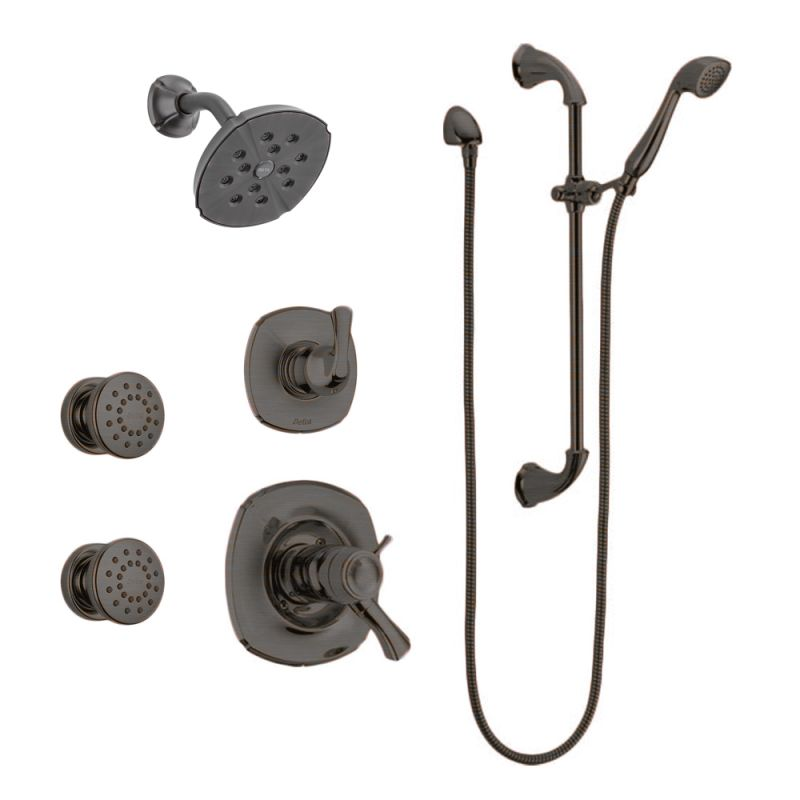 Delta Addison Monitor 17 Series Shower System Rb Venetian Bronze With Shower Head Diverter Trim