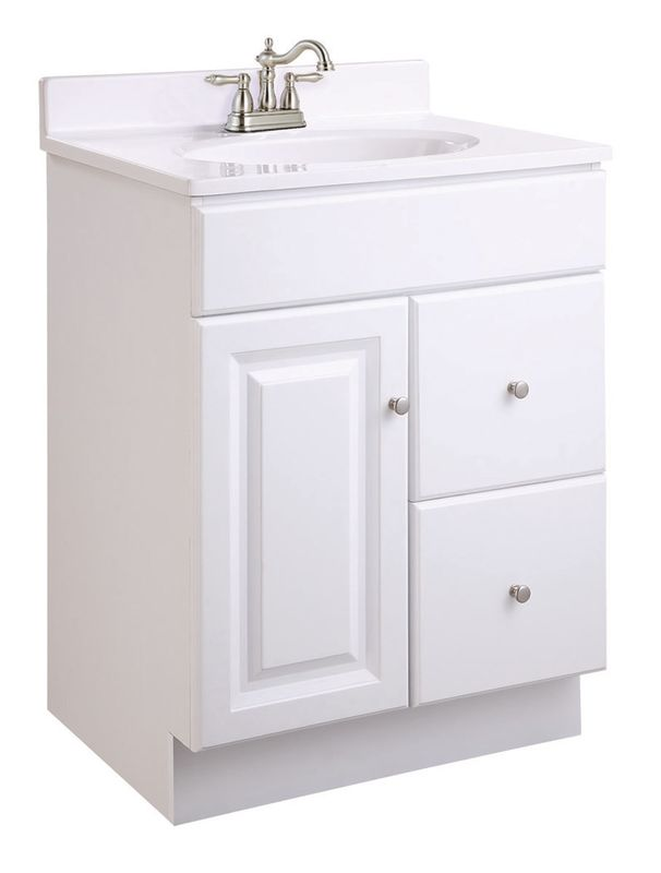 Design House 545004 White Wyndham 24 Vanity Cabinet Only